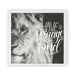 Lion with Saying <br>Framed Photography