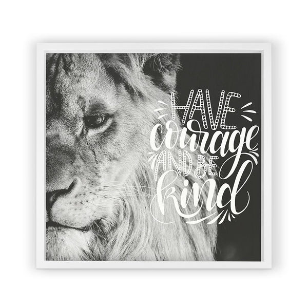 Lion with Saying Framed Photography