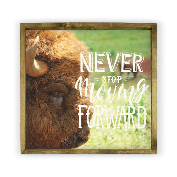Buffalo with Saying Framed Photography
