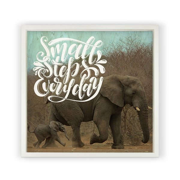 Elephants with Saying Framed Photography
