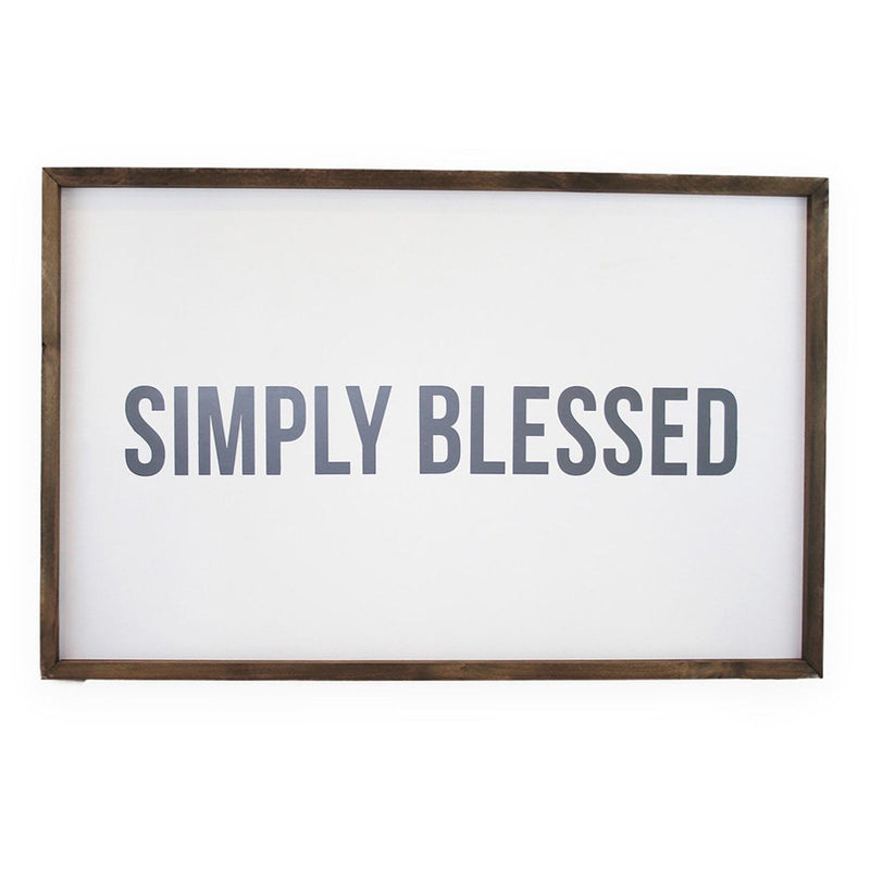 Simply Blessed <br>Framed Saying