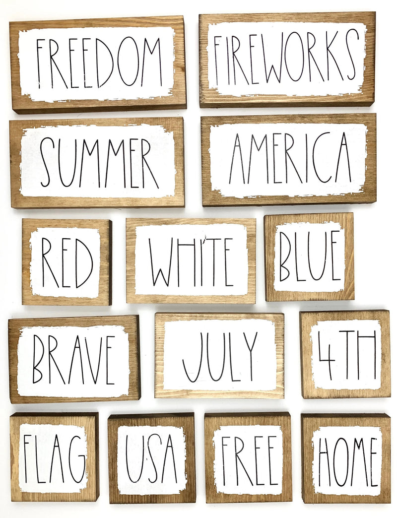 Summer Word Blocks
