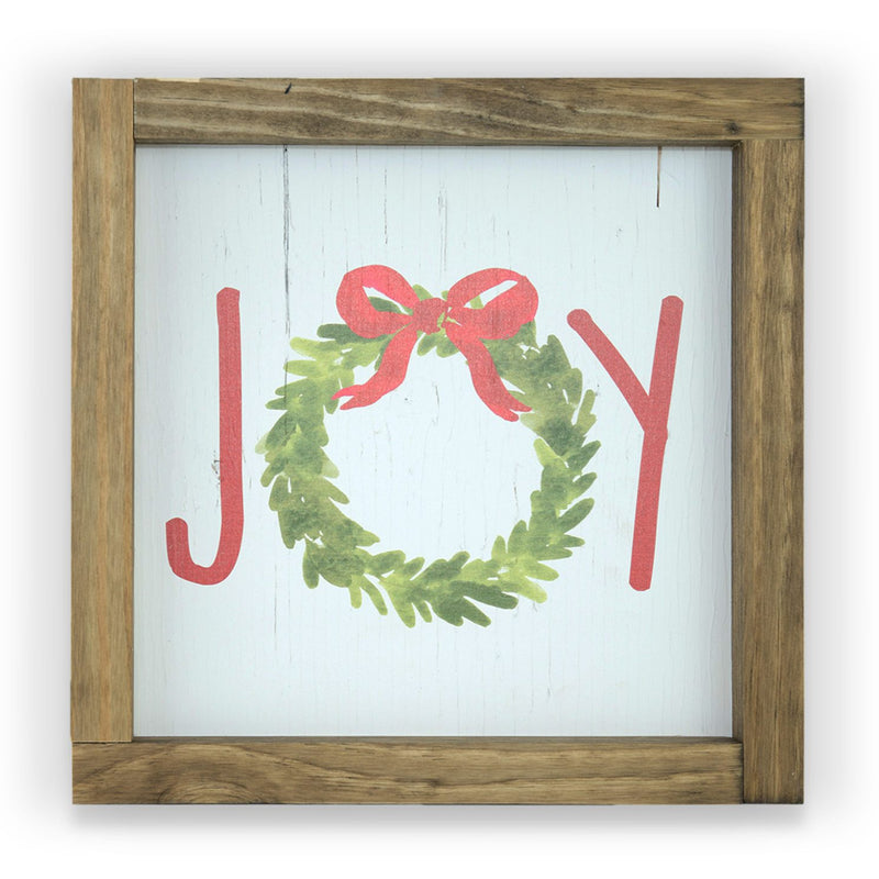 Joy Wreath <br>Framed Print
