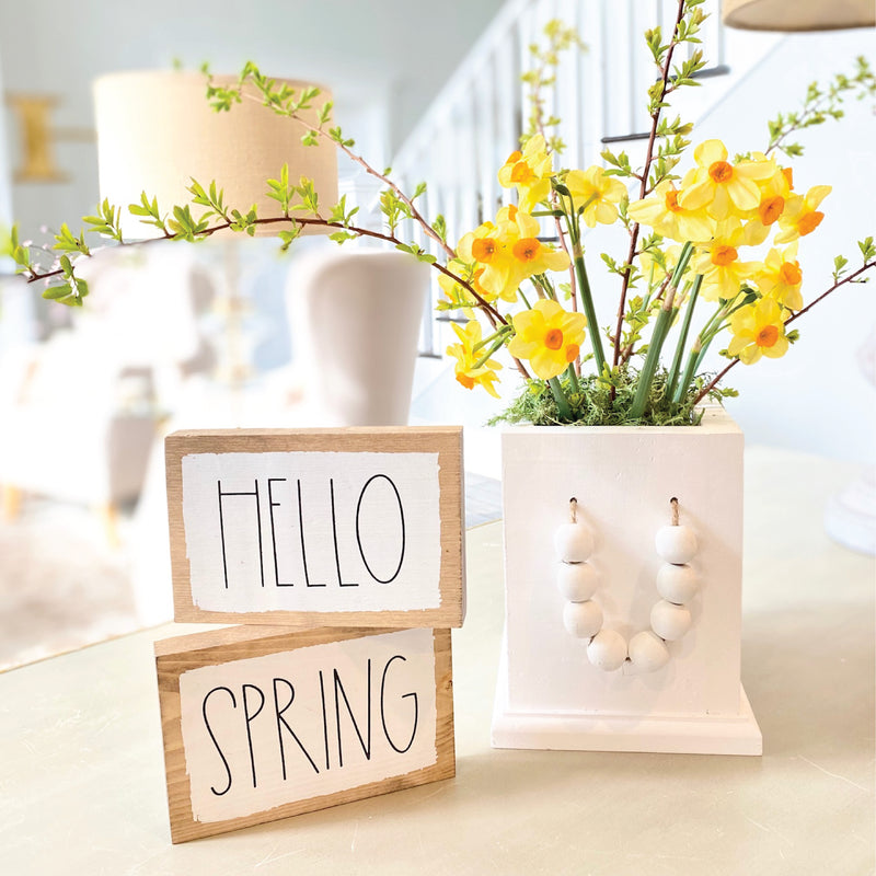 Spring Word Blocks