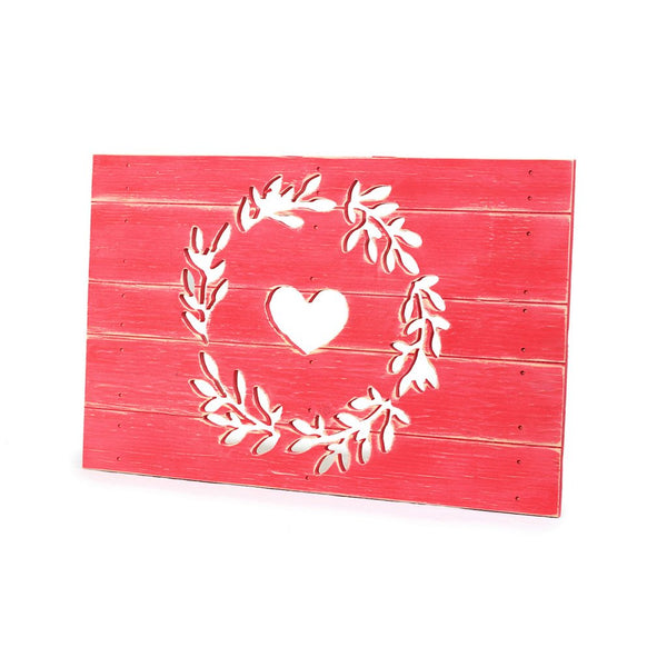 Wreath with Heart Plank