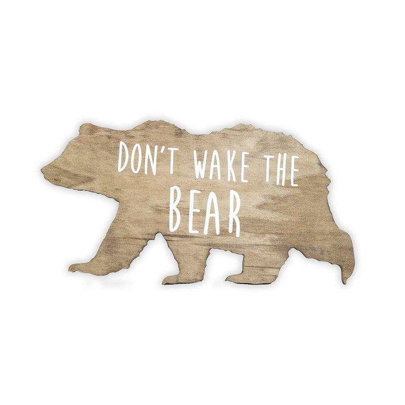Bear Wooden Shape with Saying