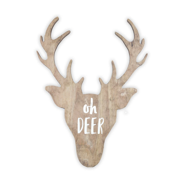 Deer Wooden Shape with Saying