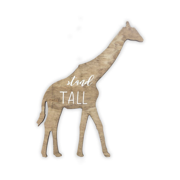 Giraffe Wooden Shape with Saying