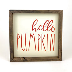 Hello Pumpkin Framed Print