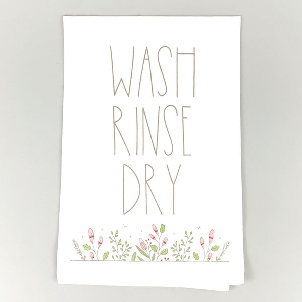 Wash Rinse Dry <br>Dish Towel