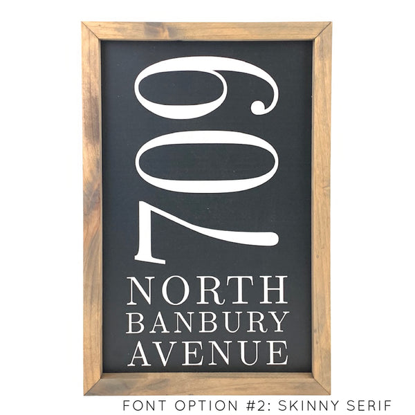 Address <br>Personalized Porch Saying