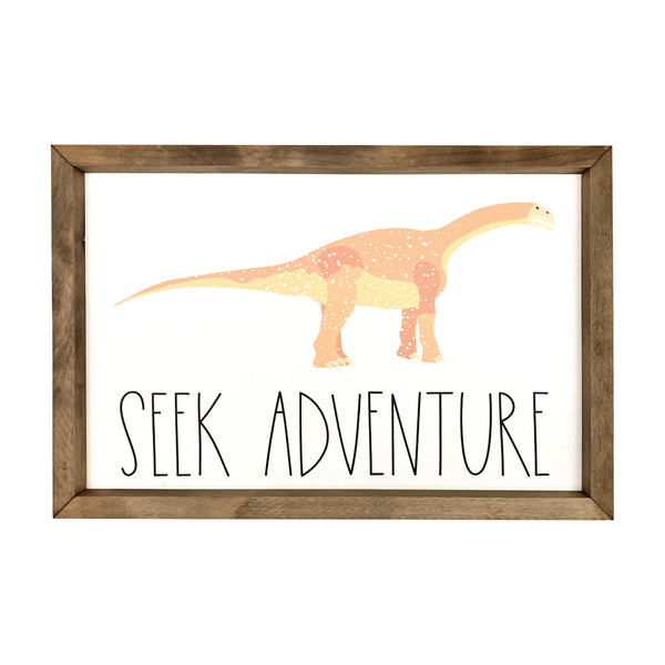 Seek Adventure Dinosaur <br>Framed Art