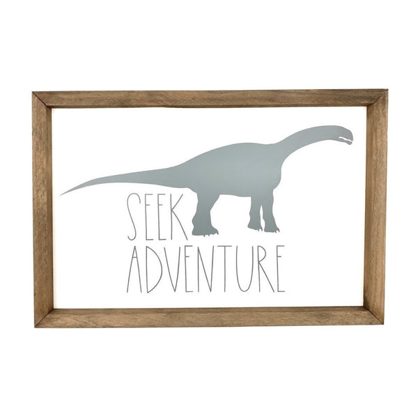Seek Adventure Dinosaur Silhouette <br>Framed Art