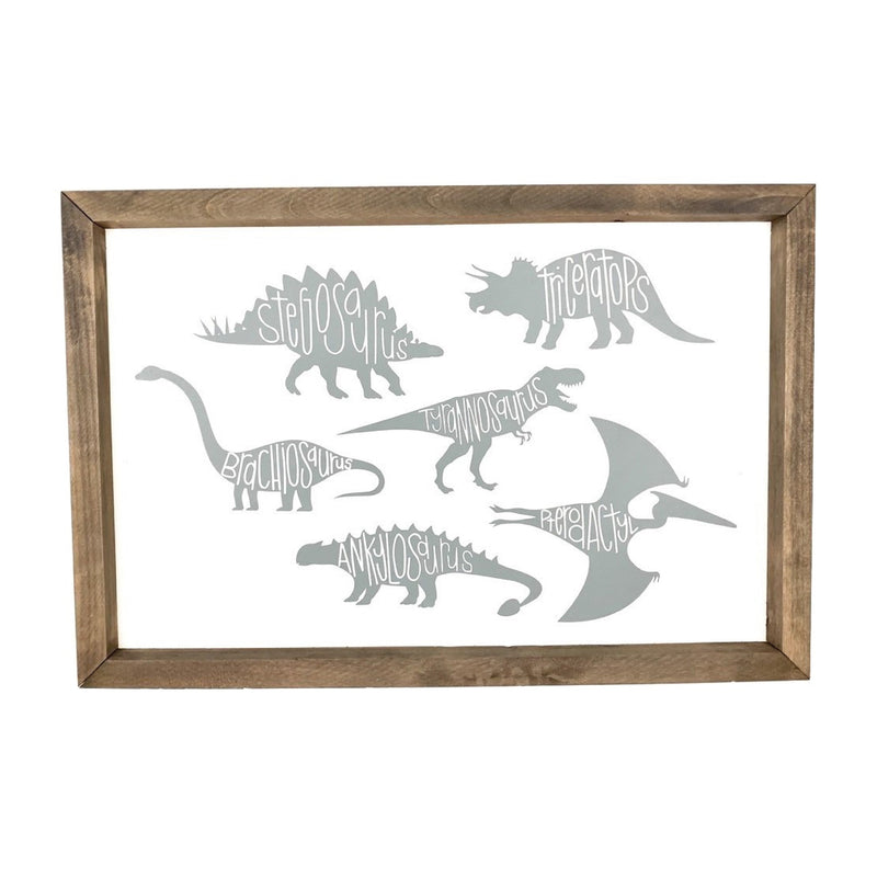 Dinosaur Framed Art