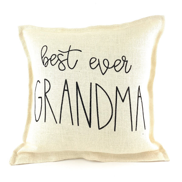 Best Ever Grandma Pillow