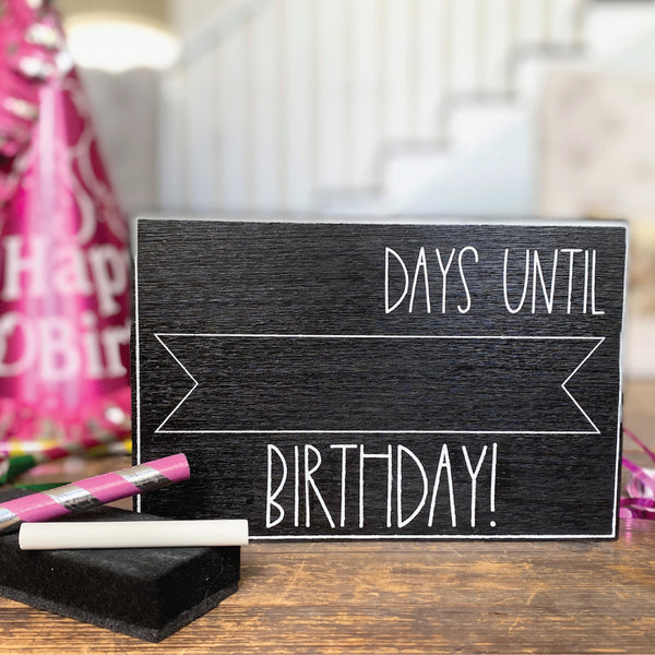 Days Until Birthday Large Countdown <br>Shelf Block