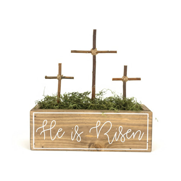 He Is Risen Cross <br>Easter Box