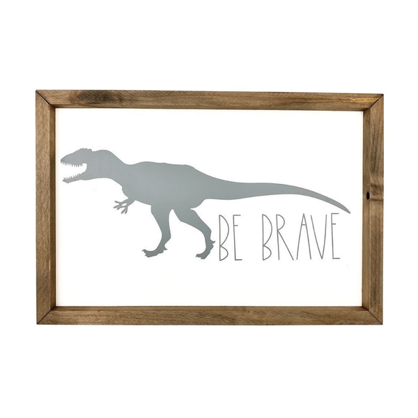 Be Brave Dinosaur Silhouette <br>Framed Art