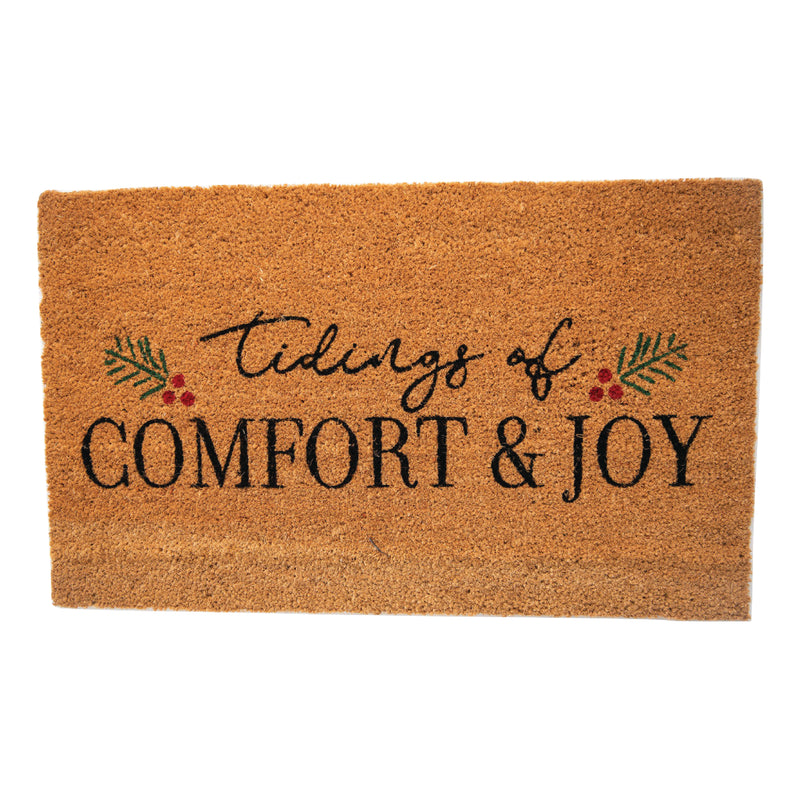 Tidings of Comfort & Joy Holiday Doormat