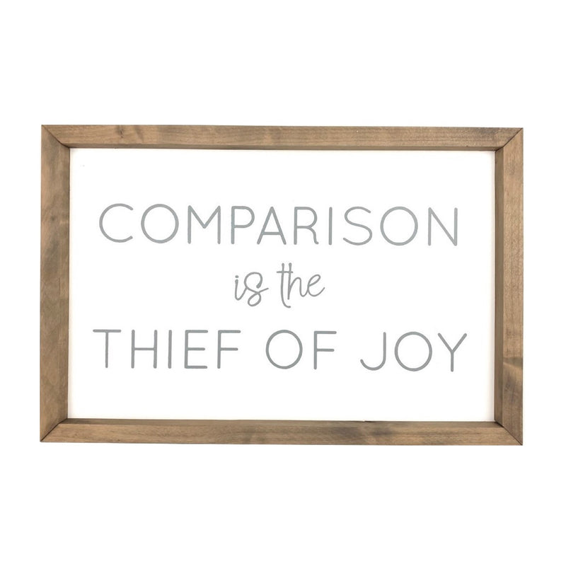 Comparison is the Thief of Joy <br>Framed Saying 1
