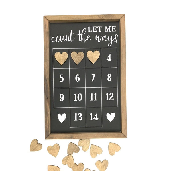 Let Me Count The Ways Valentines Countdown
