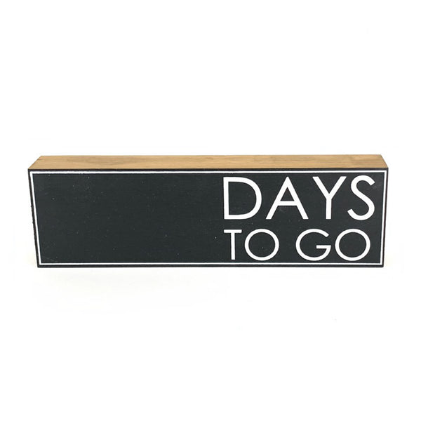 Days To Go Countdown <br>Shelf Block