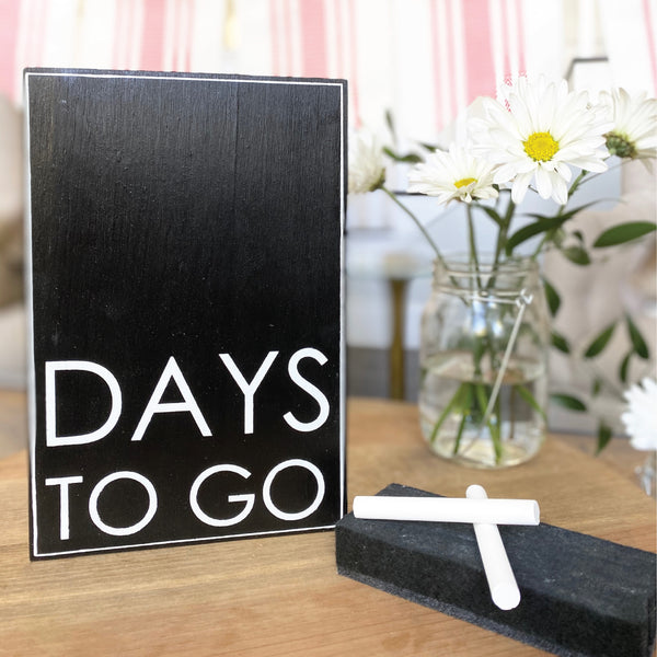 Days To Go Vertical Countdown <br>Shelf Block