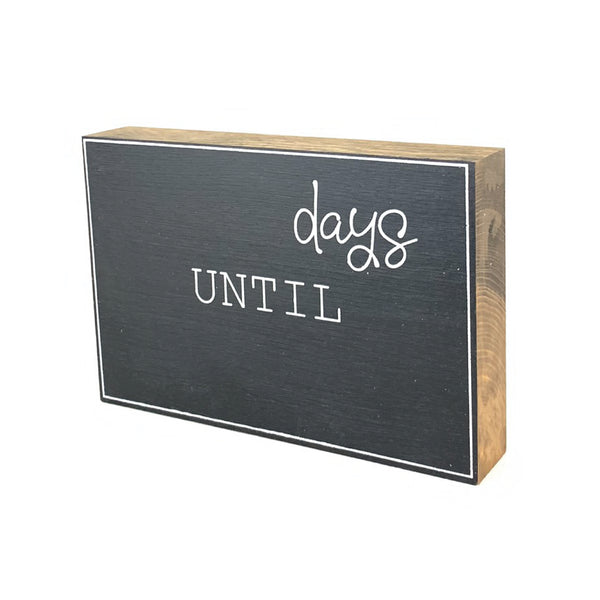 Days Until Large Countdown <br>Shelf Block