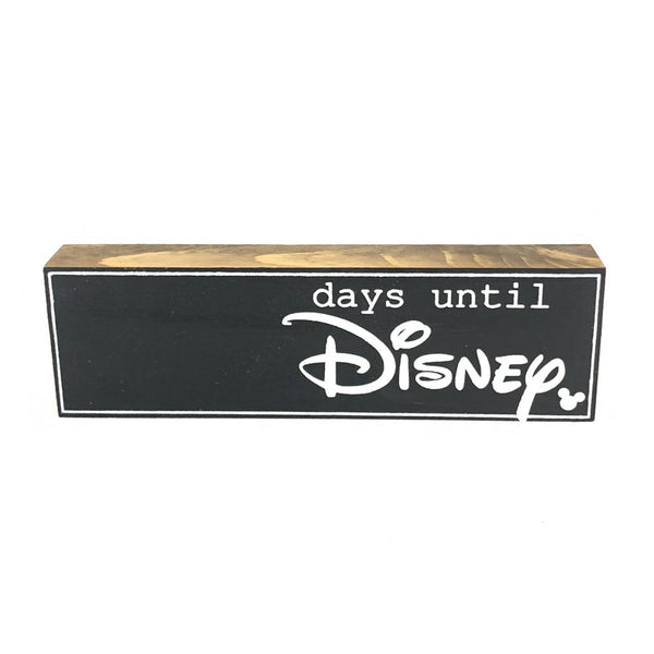 Days Until Disney Script Countdown <br>Shelf Block