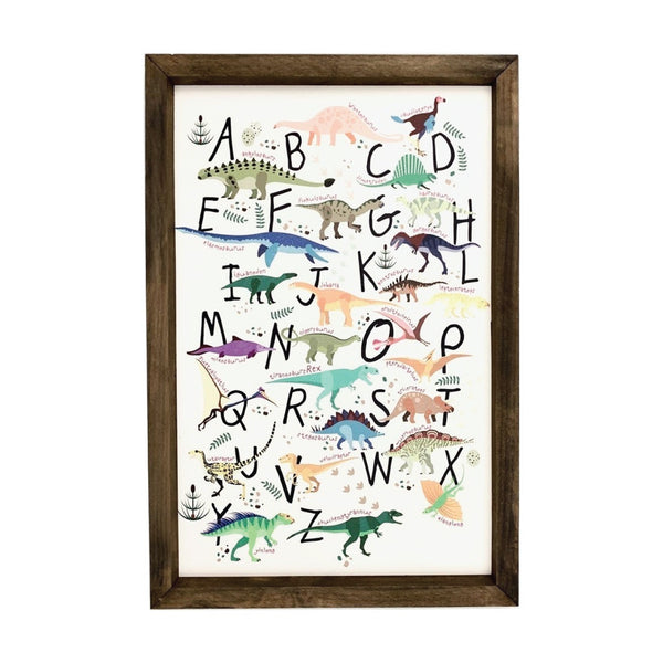 Dinosaur Alphabet <br>Framed Art