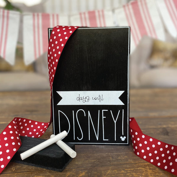Days Until Disney Large Countdown <br>Shelf Block
