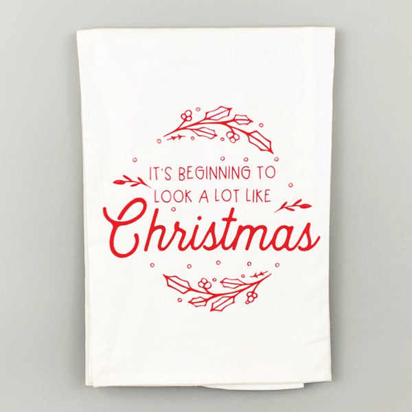 It's Beginning to Look a Lot Like Christmas <br>Dish Towel