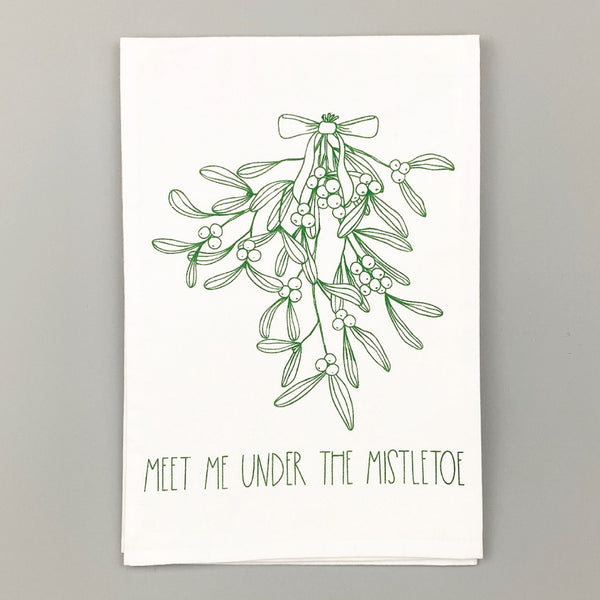 Meet Me Under The Mistletoe <br>Dish Towel