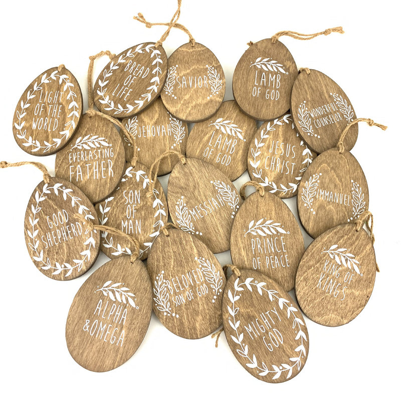 Names of Christ <br>Egg Ornament Set
