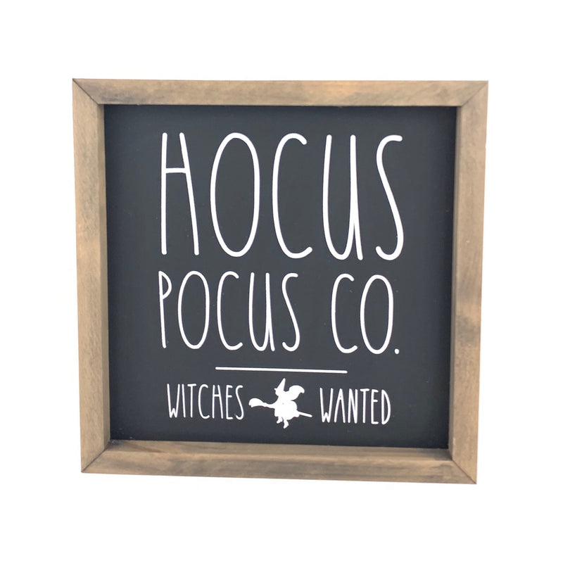 Hocus Pocus Co. Framed Saying