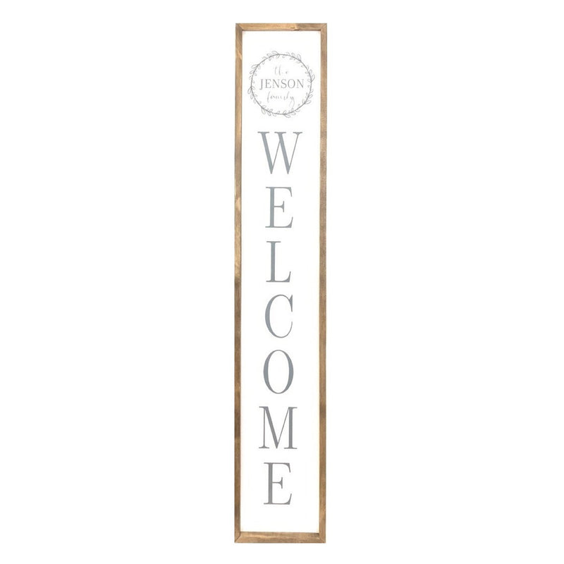 Personalized Family Welcome <br>Porch Board