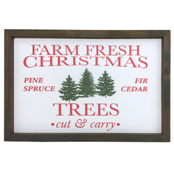 Farm Fresh Trees <br>Framed Print