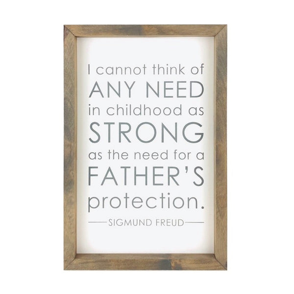 A Father's Protection <br>Framed Saying