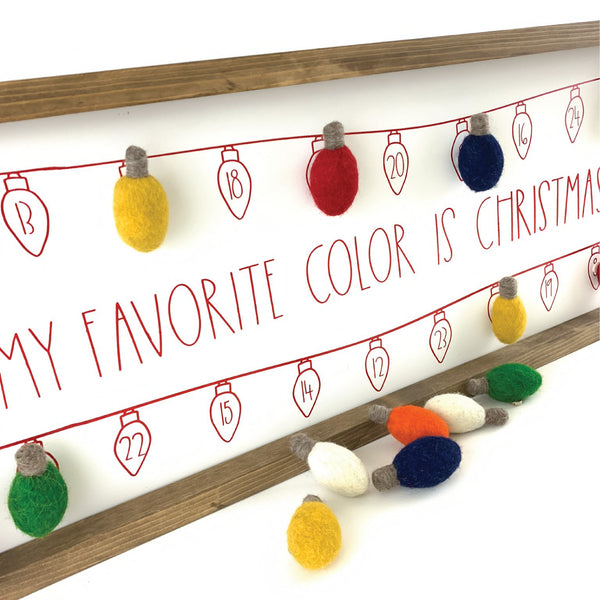My Favorite Color Is Christmas Lights <br>Magnetic Advent