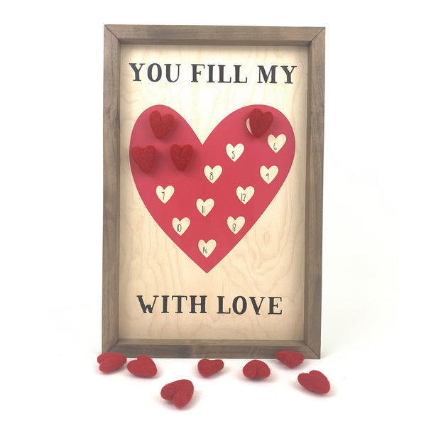 You Fill My Heart With Love Valentines Countdown