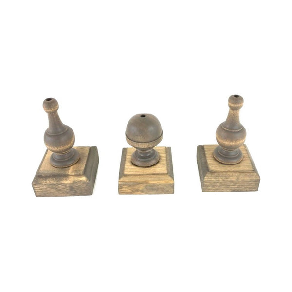 Finial Flag Stands <br>Set of Three