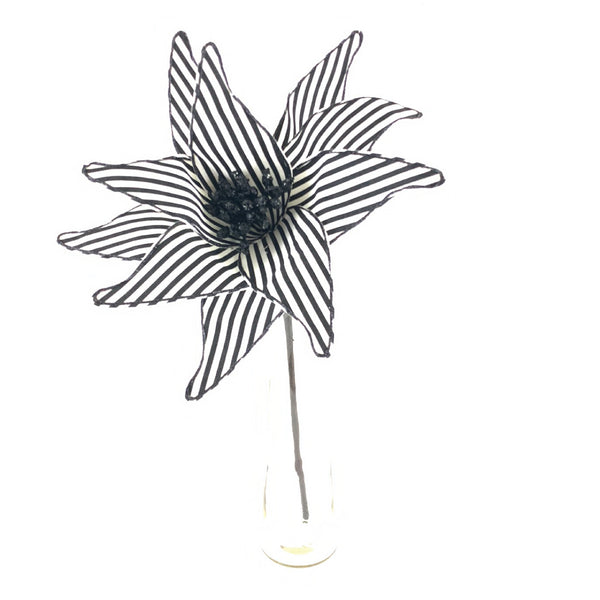 Black & White Striped Flower