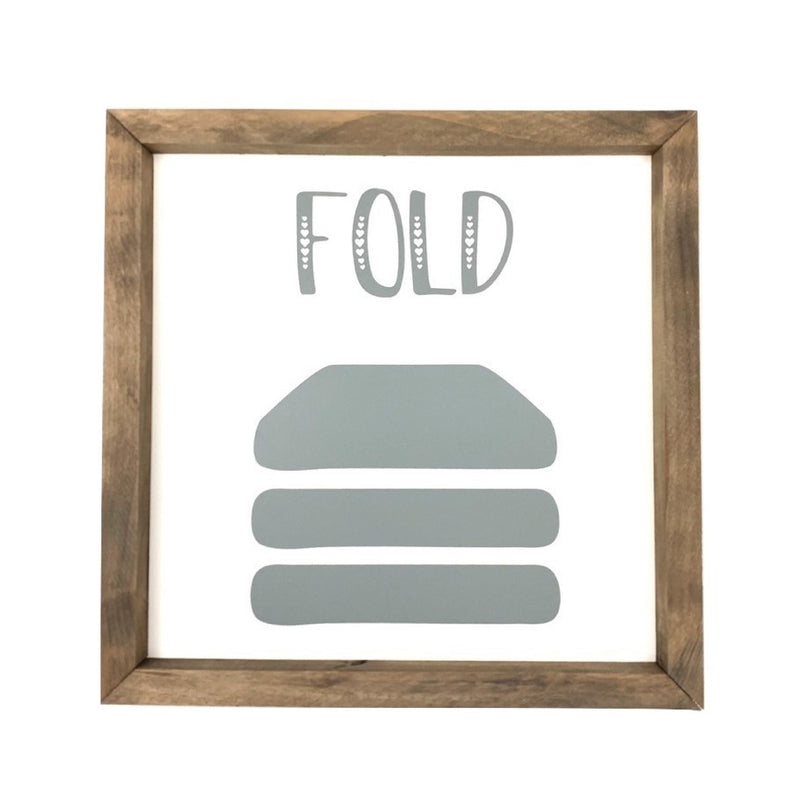 Fold <br>Framed Saying