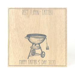 Best Flippin' Father <br>Father's Day Handprint Keepsake