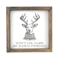 Won't You Guide My Sleigh Tonight <br>Framed Print