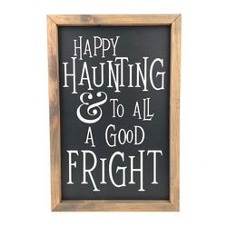 Happy Haunting <br>Framed Saying