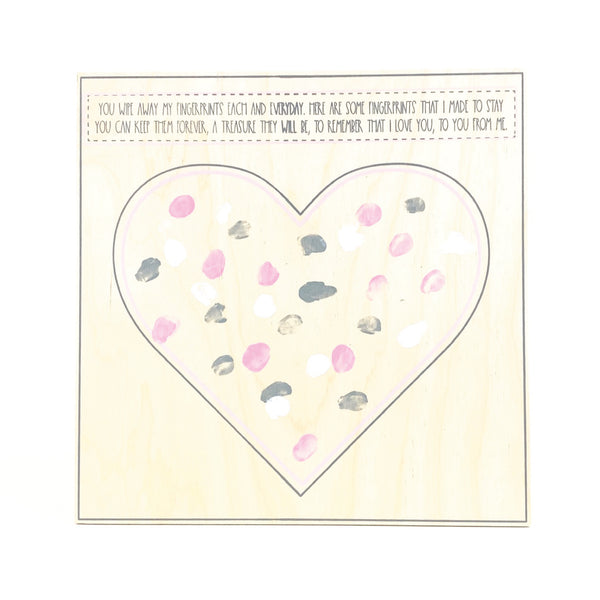 Small Heart <br>Mother's Day Hand & Finger Keepsake