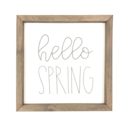 Hello Spring <br>Framed Saying