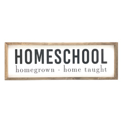 Homegrown Home School <br>Framed Saying