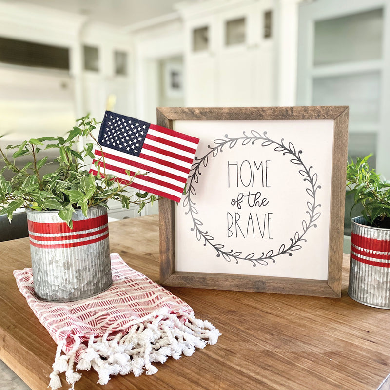 Home of the Brave Framed Saying